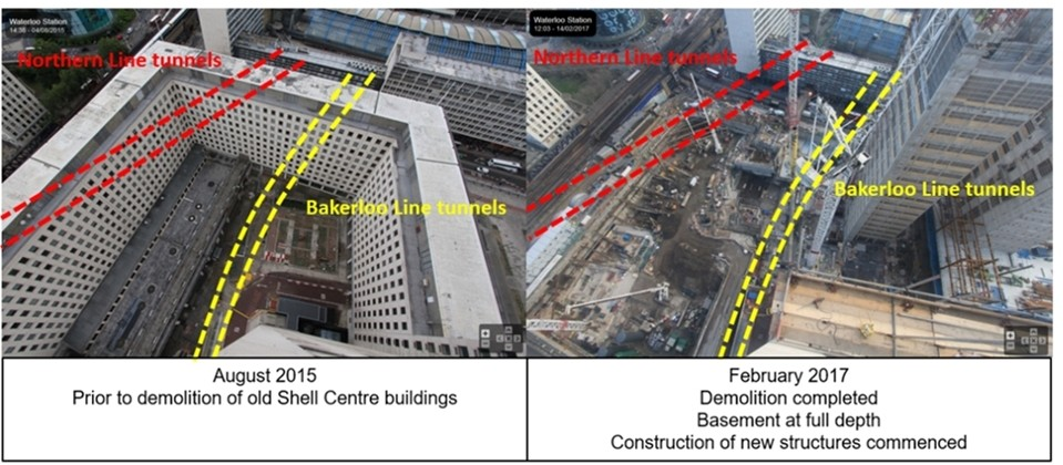 Monitoring demolition of Shell Centre